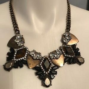 Bauble bar statement necklace leopard print black